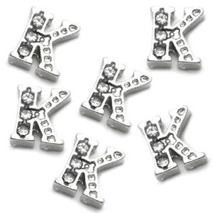 Letter K Floating Charm for Picture Locket